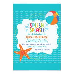 Splish Splash Invitation
