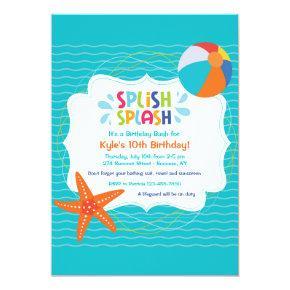 Splish Splash Invitations