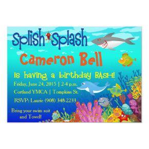 Splish Splash Under the Sea Birthday Bash! Invitation