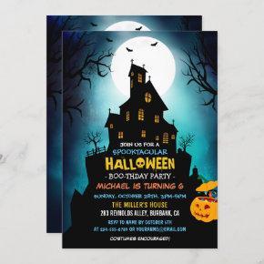 SPOOKTACULAR Costume Kids Halloween Birthday Party Invitation