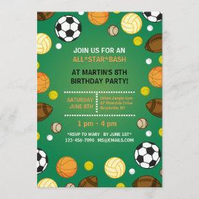 Sports Background Invitation