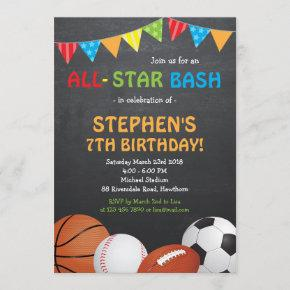 Sports Birthday Invitation / Sports Invitation