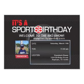 Sports Birthday Photo Invitations