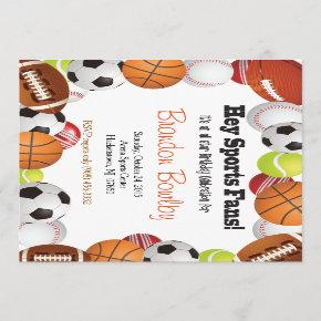 SPORTS FAN BIRTHDAY INVITATION
