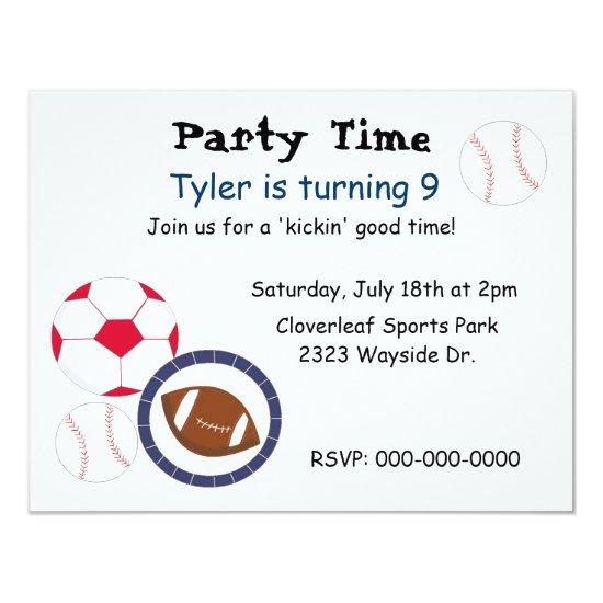 sports theme birthday party invitations candied clouds