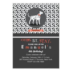 Spotlight on Dalmatian Invitation