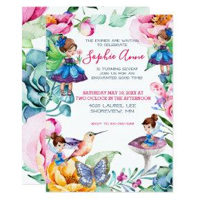 Spring Fairy Birthday Party Invitations