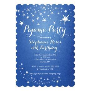 Star Sleepover Party Birthday Party