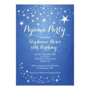 Star Sleepover Party Birthday Party Invitations