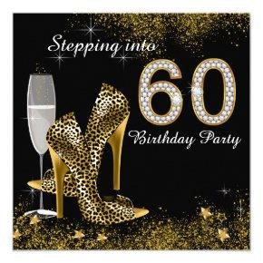 Stepping Into 60 Birthday Party Invitation