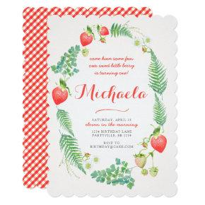 Strawberry with Ferns Invitations