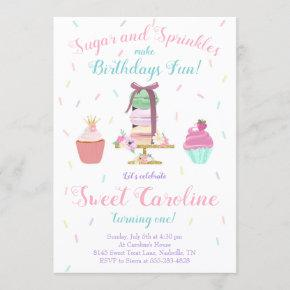 Sugar and Sprinkles Sweet Treat Birthday Invitation