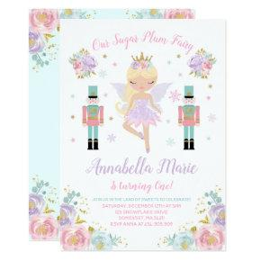 Sugar Plum Fairy Invitations Nutcracker Invitations
