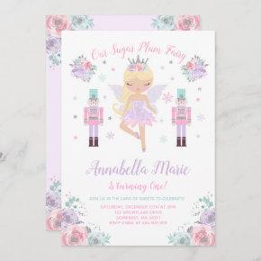 Sugar Plum Fairy Invitation Nutcracker Invitation