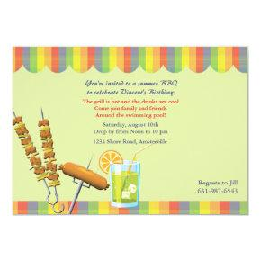 Summer Cookout Birthday Invitations