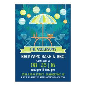 Summer Night Patio Party Invitations