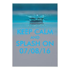 Summer Pool or Beach Party Invitations