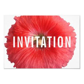Summer Red Hollyhock (New) Invitation