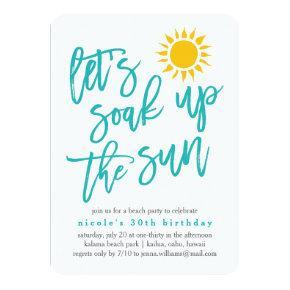 Summer Sun Beach Party Invitations