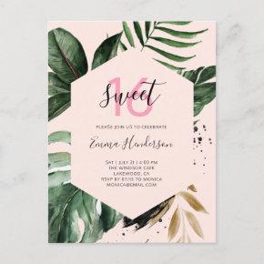 Summer Tropical Birthday Sweet 16 Invitation Post
