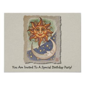 Sun Moon & Stars Invitation