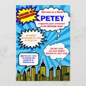 Super Hero Birthday  | Comic Book