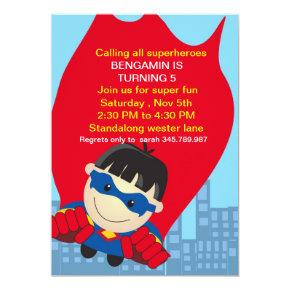 Superhero Birthday Invitation for the super boy