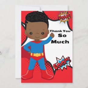 Superhero Birthday Thank You