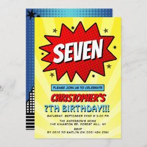 Superhero Comic Book Any Age Birthday