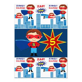 Superhero Comic Book Kids Birthday