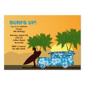Surfer Dude Invitation
