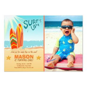 Surfing Birthday Invitation Surf's Up Beach party