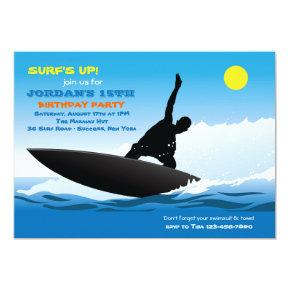 Surfer Party Birthday Invitations Candied Clouds