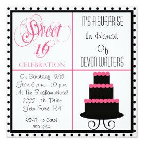 Surprise 16th Birthday Sweet 16 Party Invitation