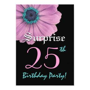 SURPRISE 25th Birthday Template Pink Daisy