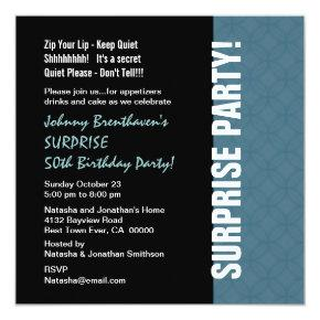 Surprise 50th Birthday Invitations Candied Clouds