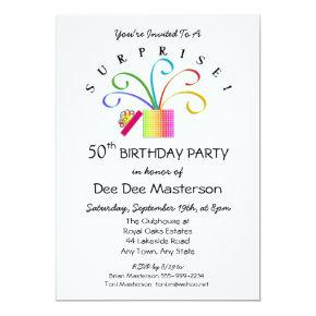 SURPRISE! 50th or Any Age Birthday Party Invitations