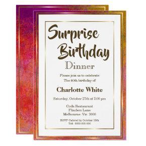 Surprise 60th Birthday Dinner Invitations