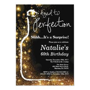 Surprise 60th Birthday Wine Aged to Perfection Invitation