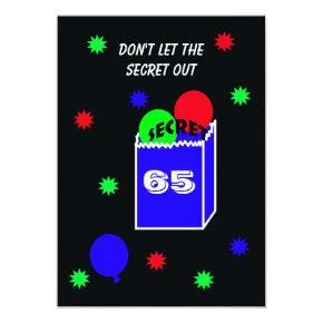 Surprise 65th Birthday Party Invitations SECRET