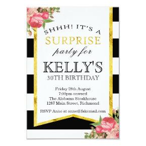 Surprise Birthday Invitations - Womens Birthday