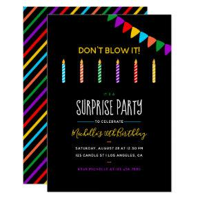 Surprise Birthday Party personalized Invitations