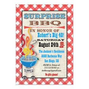 Surprise Party Backyard Barbecue party Invitations