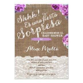 Surprise party Invites for Latina Lady, Sorpresa
