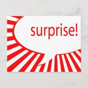 surprise! party : talking bubble invitation post