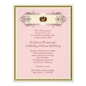 Sweet 16 Halloween Ball Costume Party Invitations