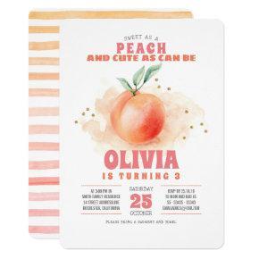 Sweet as a Peach Birthday