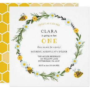 Sweet As Can Bee Birthday Invitation