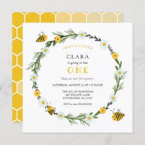 Sweet As Can Bee Birthday Invitation