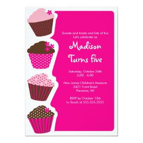 Sweet Cupcake Birthday Party Invitation